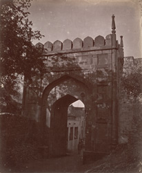 General view of the city gate, Ajmer.